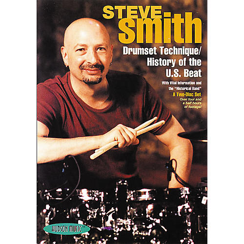 Hudson Music Autographed Steve Smith Drumset Technique / History of the U.S. Beat Two-Disc DVD Set