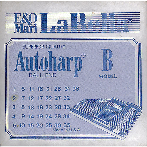LaBella Autoharp Strings Ball End Not Wound