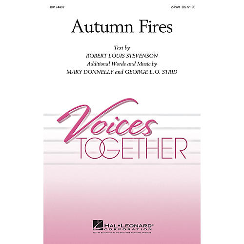 Hal Leonard Autumn Fires 2-Part composed by George L.O. Strid-thumbnail