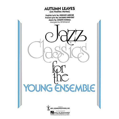 Hal Leonard Autumn Leaves Jazz Band Level 3 Arranged by Peter Blair-thumbnail