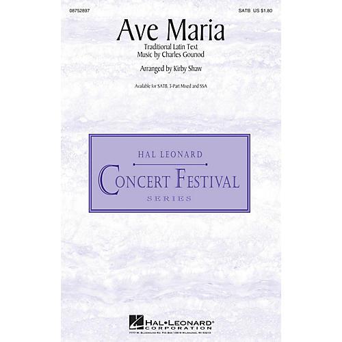 Hal Leonard Ave Maria 3-Part Mixed Arranged by Kirby Shaw