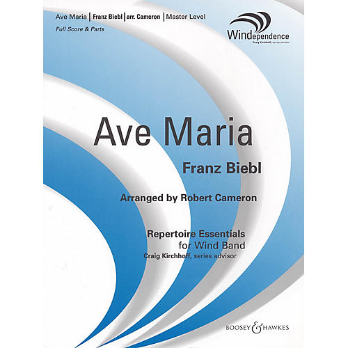 Boosey and Hawkes Ave Maria Concert Band Level 4 Composed by Franz Biebl Arranged by Robert Cameron-thumbnail