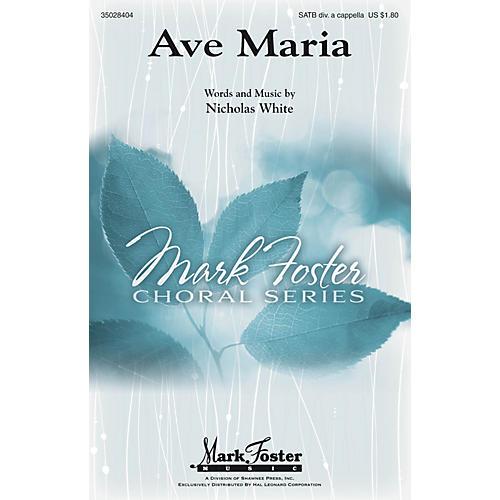 Shawnee Press Ave Maria SATB DV A Cappella composed by Nicholas White-thumbnail