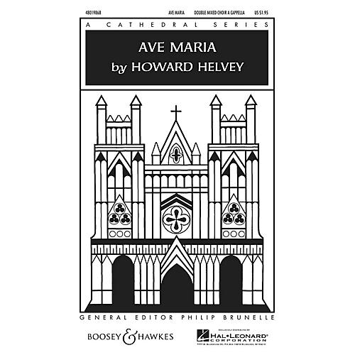 Boosey and Hawkes Ave Maria SATB Double Choir composed by Howard Helvey-thumbnail
