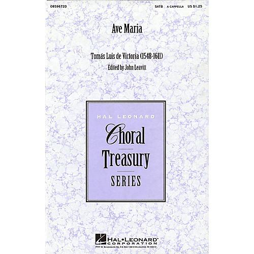 Hal Leonard Ave Maria (SATB a cappella) SATB a cappella arranged by John Leavitt-thumbnail