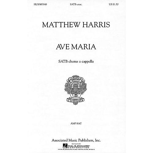 G. Schirmer Ave Maria (SATB a cappella) SATB a cappella composed by Matthew Harris-thumbnail