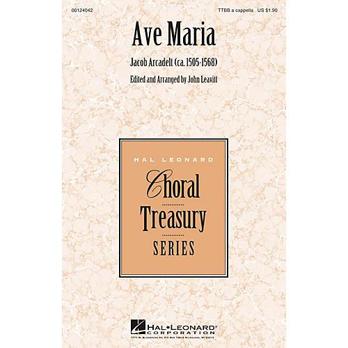 Hal Leonard Ave Maria TTBB A Cappella arranged by John Leavitt-thumbnail