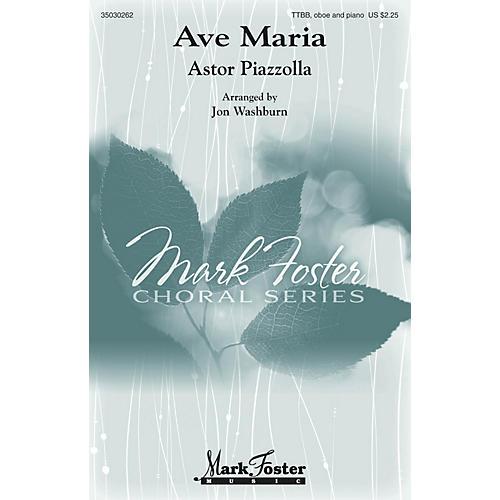 Mark Foster Ave Maria (TTBB, Oboe and Piano) TTBB arranged by Jon Washburn-thumbnail