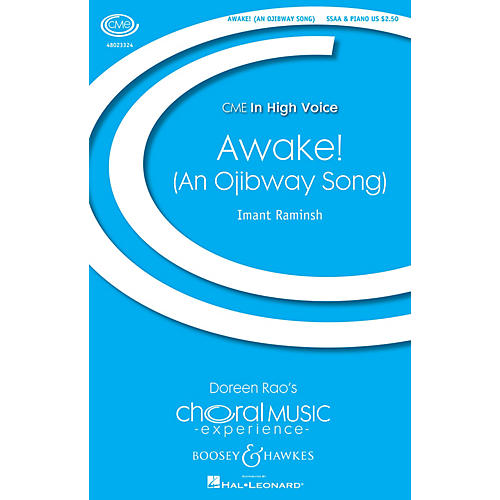Boosey and Hawkes Awake! An Ojibwa Song (CME In High Voice) SSAA composed by Imant Raminsh