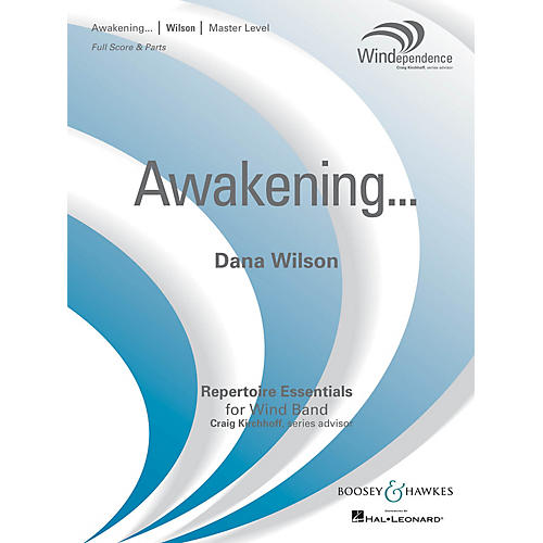 Boosey and Hawkes Awakening... (Score Only) Concert Band Level 4 Composed by Dana Wilson-thumbnail