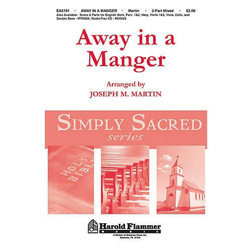 Shawnee Press Away in a Manger (from Canticle of Joy) 2 Part Mixed arranged by Joseph M. Martin-thumbnail