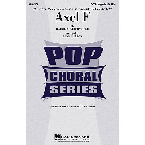 Hal Leonard Axel F (from Beverly Hills Cop) TTBB A Cappella Arranged by Deke Sharon-thumbnail