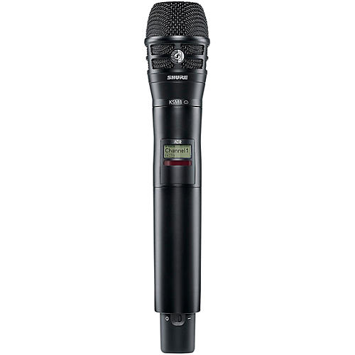 Shure Axient Digital AD2/K8B Handheld Wireless Transmitter with Black KSM8 Microphone-thumbnail
