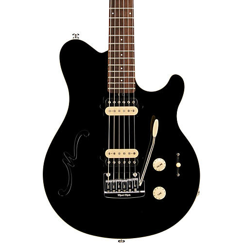 ernie ball music man axis super sport hh hollowbody electric guitar with tremolo musician 39 s friend. Black Bedroom Furniture Sets. Home Design Ideas