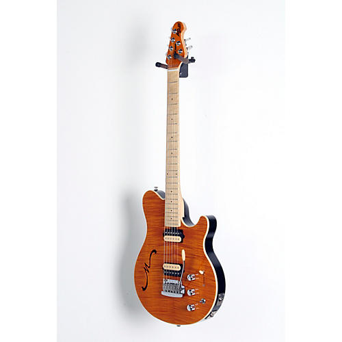 open box ernie ball music man axis super sport hh hollowbody electric guitar with tremolo piezo. Black Bedroom Furniture Sets. Home Design Ideas
