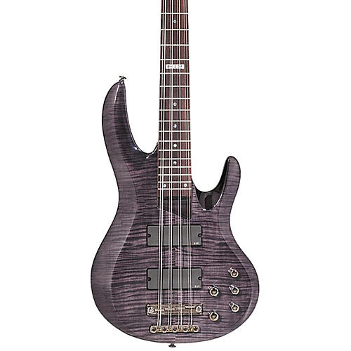 ESP B-208FM 8-String Bass with Flamed Maple Top See-Through Black