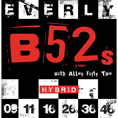Everly B-52 Rockers Alloy Medium Hybrid Electric Guitar Strings-thumbnail