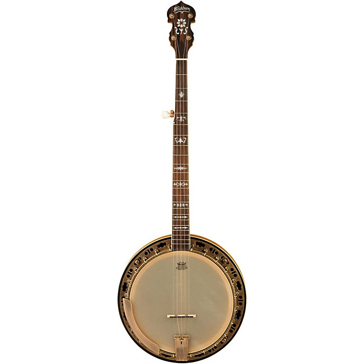 WashburnB120 Natural Distressed 5-String Banjo w/caseNatural Distressed
