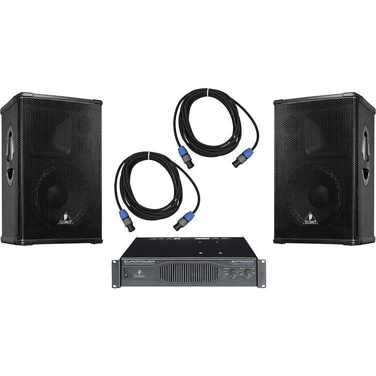 BehringerB1220 / EP4000 Speaker & Amp Package