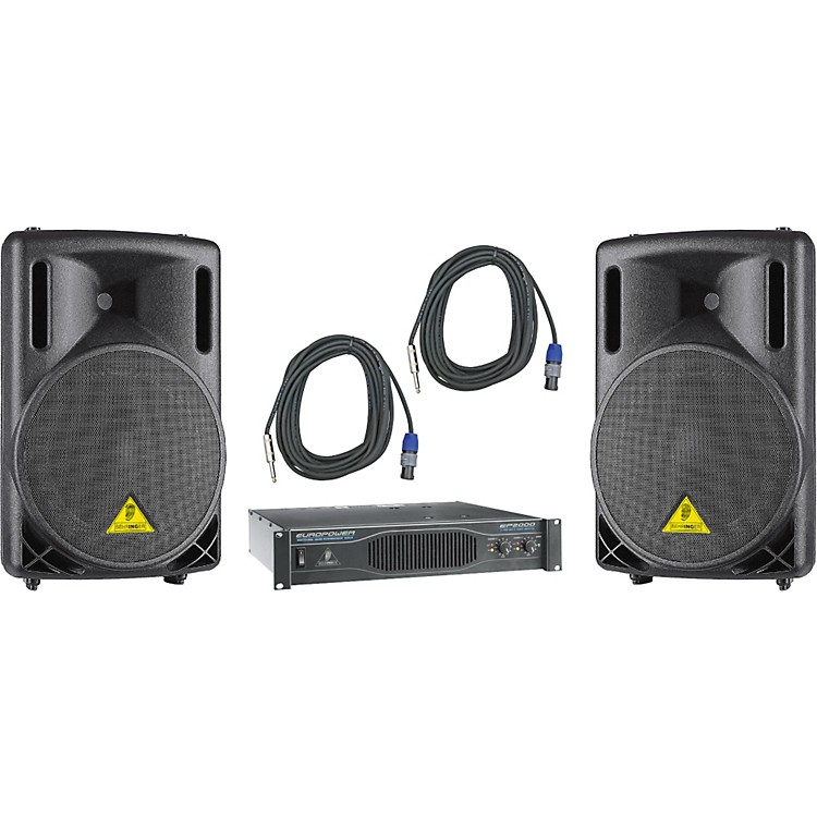 Behringer B212XL / EP2000 Speaker & Amp Package