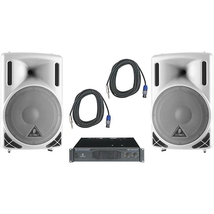 BehringerB212XL White / EP2000 Speaker & Amp Package