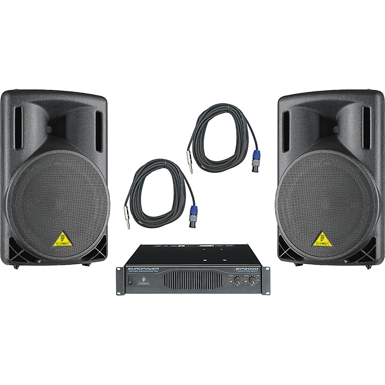 Behringer B215XL / EP2000 Speaker & Amp Package