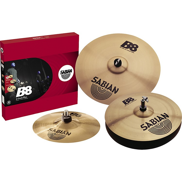 sabian b8 cymbal 2 pack plus free splash cymbal musician 39 s friend. Black Bedroom Furniture Sets. Home Design Ideas