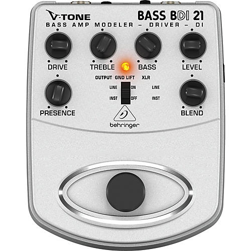Behringer BDI21 V-Tone Bass Driver Bass Amp Modeler/Direct Recording Preamp/DI Box Pedal