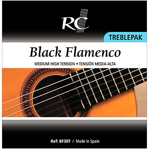 RC Strings BF30T Black Flamenco Treblepak - 1st, 2nd and 3rd strings for Nylon String Guitar