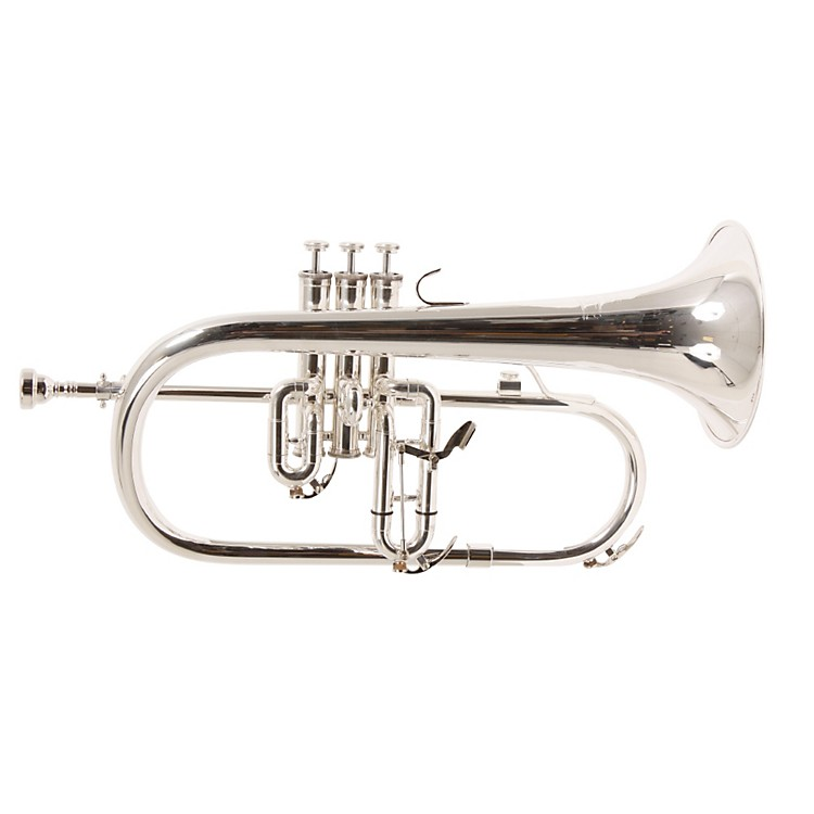 Blessing BFH-1541T Series Bb Flugelhorn BFH-1541TS Silver Yellow Brass Bell