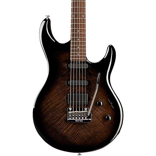 Ernie Ball Music Man BFR Luke III HSS Flame Maple Top Electric Guitar Black Burst