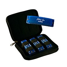 Hohner BIP Blue Ice Harmonica, 3 Pack with Zippered Carrying Case