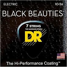 DR Strings BLACK BEAUTIES Black Coated Medium 7-String Electric Guitar Strings (10-56)