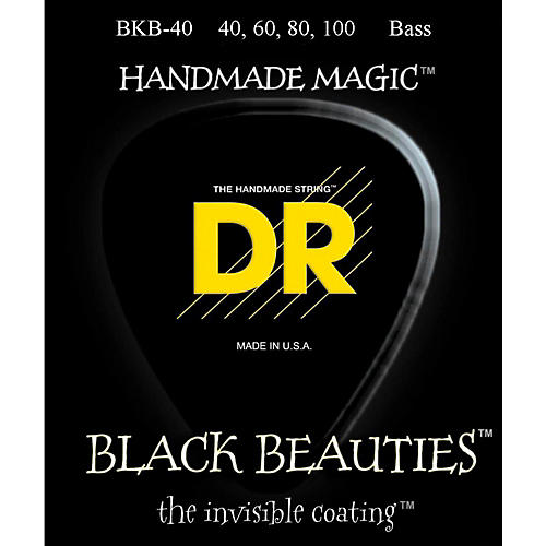 DR Strings BLACK BEAUTIES Coated 4-String Bass Light (40-100)