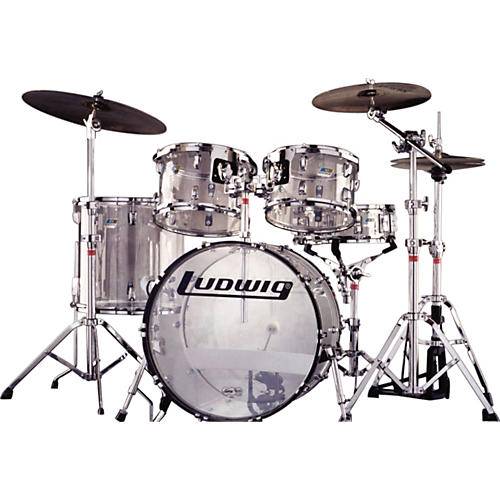 Ludwig BLEM L9125L Vistalite Plastic 5pc Drum Set Clear-thumbnail