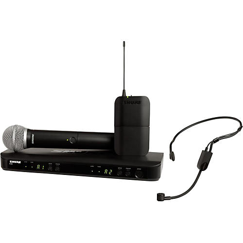 Shure BLX1288 Combo System with PGA31 Headset microphone and PG58 handheld microphone-thumbnail
