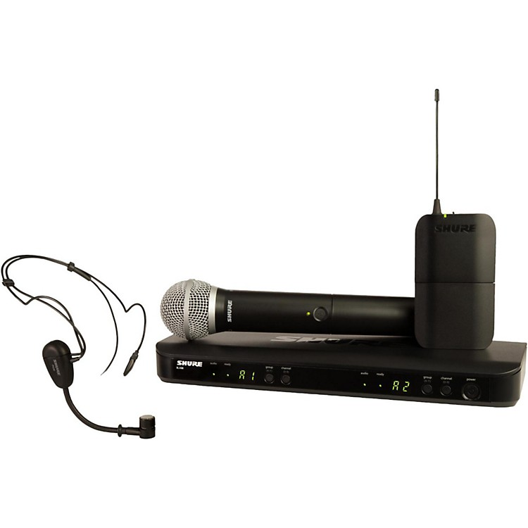 Shure BLX1288/PG30 Dual Wireless System with One PG30 Headset and One PG58 Handheld Mic