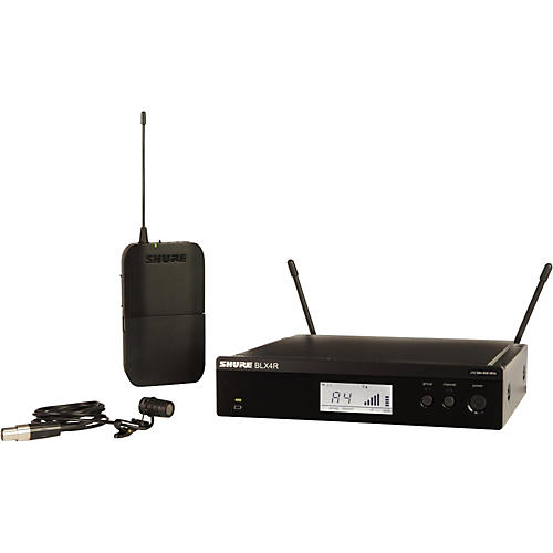 Shure BLX14R/W85 Wireless Lavalier System with WL185 Cardioid Lavalier Mic Band H10