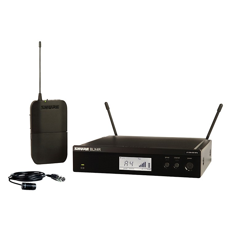 Shure BLX14R/W85 Wireless Lavalier System with WL185 Cardioid Lavalier Mic frequency J10
