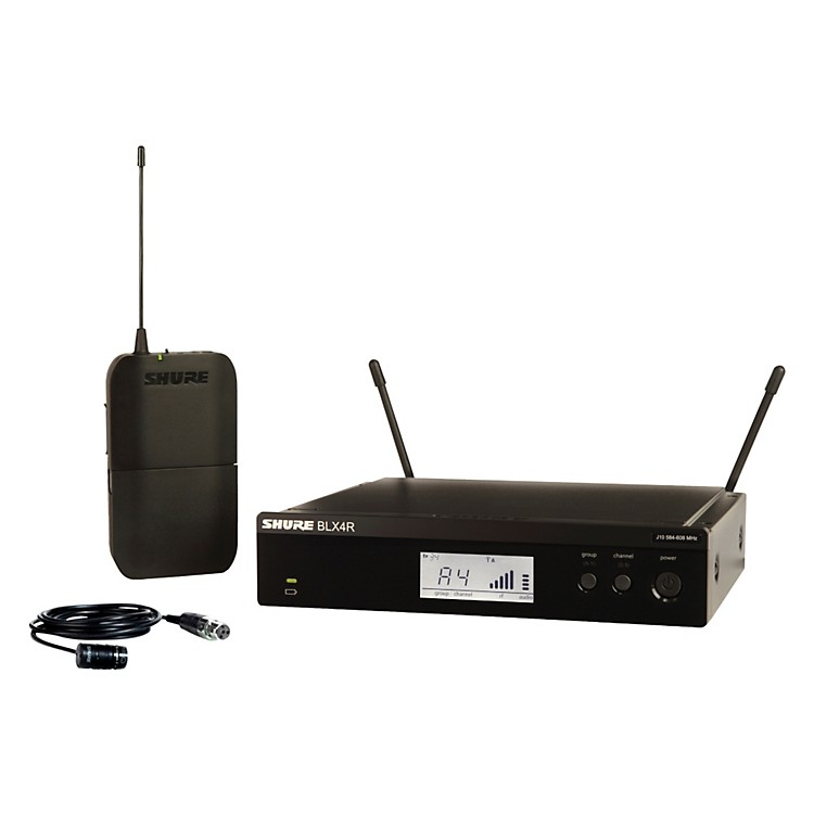 Shure BLX14R/W85 Wireless Lavalier System with WL185 Cardioid Lavalier Mic frequency K12