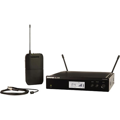 Shure BLX14R/W93 Wireless Lavalier System with WL93 Omnidirectional Condenser Miniature Lavalier Mic Band J10