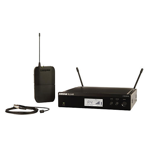 Shure BLX14R/W93 Wireless Lavalier System with WL93 Omnidirectional Condenser Miniature Lavalier Mic Band M15