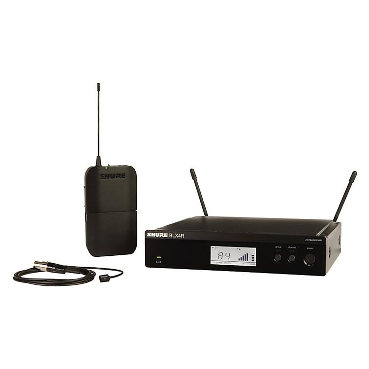 ShureBLX14R/W93 Wireless Lavalier System with WL93 Omnidirectional Condenser Miniature Lavalier Micfrequency H8