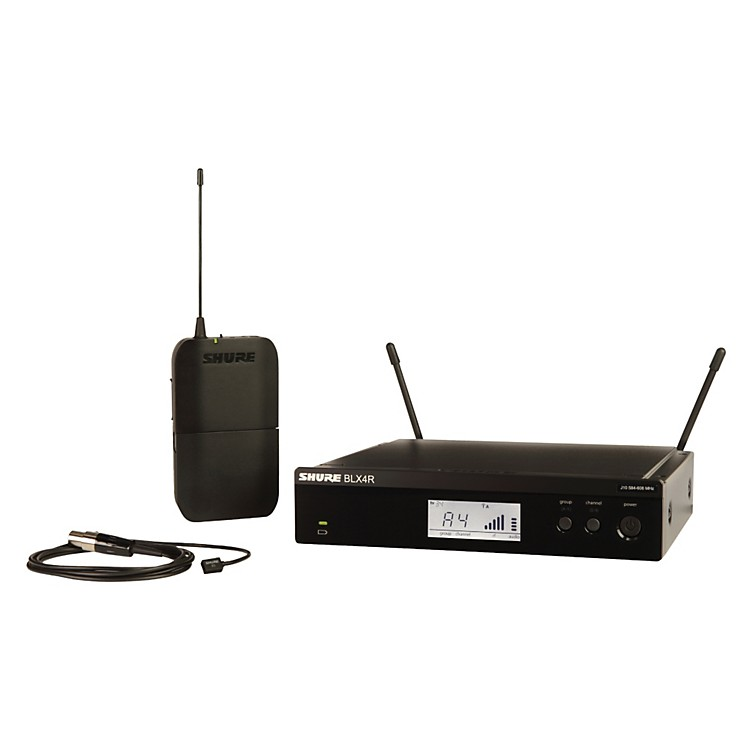 Shure BLX14R/W93 Wireless Lavalier System with WL93 Omnidirectional Condenser Miniature Lavalier Mic frequency K12
