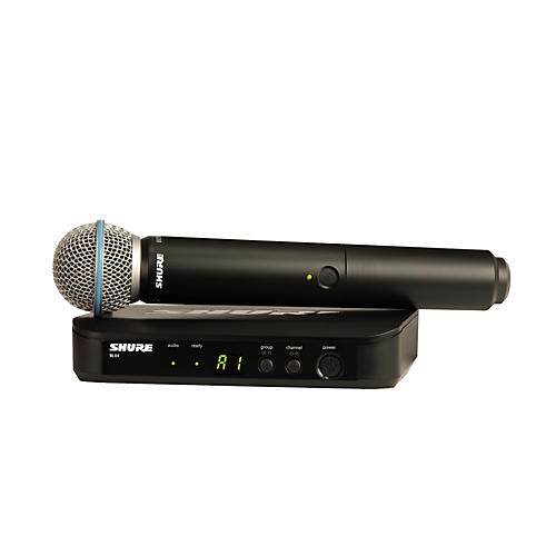 Shure BLX24/B58 Handheld Wireless System with Beta 58A Capsule Band M15