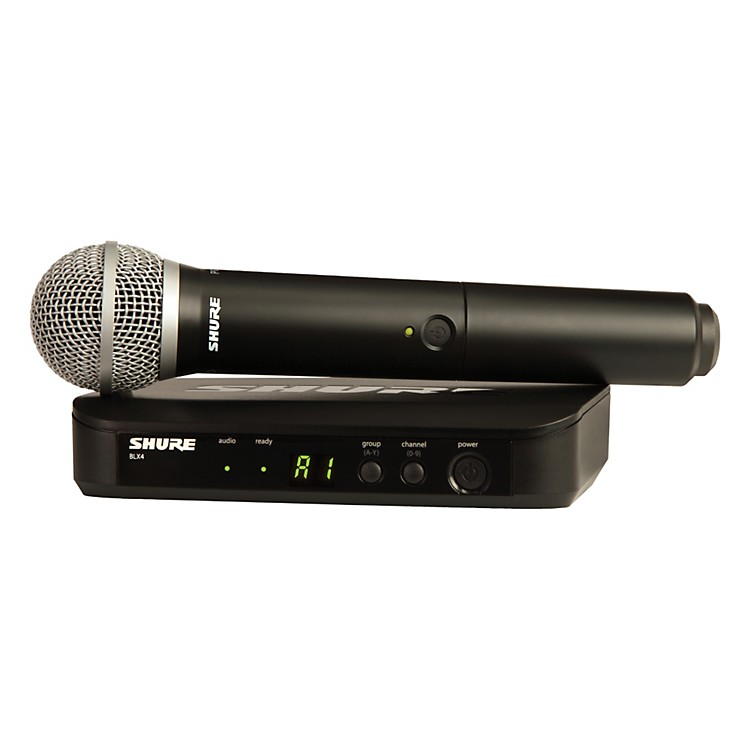 Shure BLX24/PG58 Handheld Wireless System with PG58 Capsule frequency H8