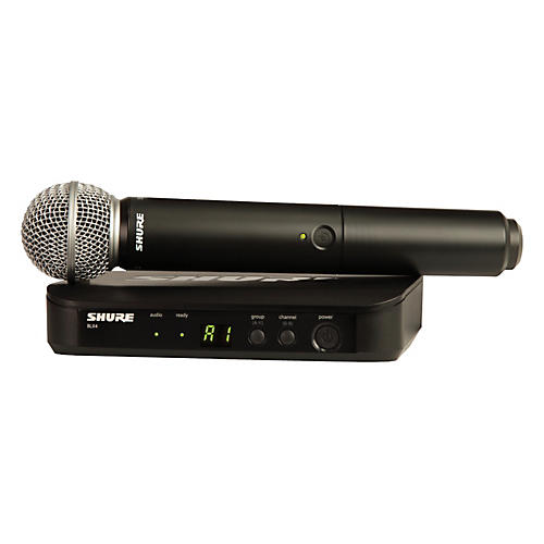 Shure BLX24/SM58 Handheld Wireless System with SM58 Capsule Band M15