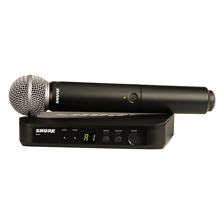 Shure BLX24/SM58 Handheld Wireless System with SM58 Capsule frequency J10