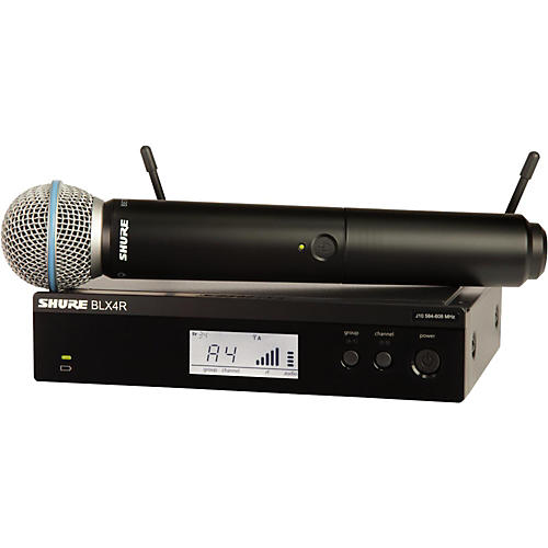 Shure BLX24R/B58 Wireless System with Rackmountable Receiver and Beta 58A Microphone Capsule