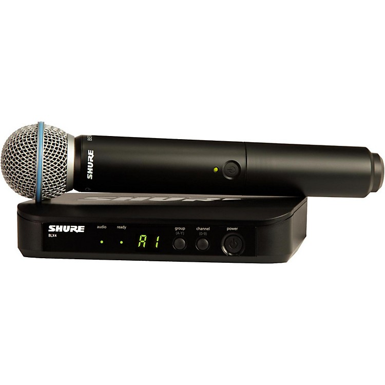 Shure BLX24R/B58 Wireless System with Rackmountable Receiver and Beta 58A Microphone Capsule frequency K12